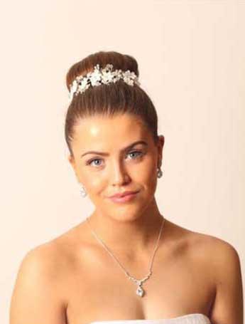 Boho romantic side tiara