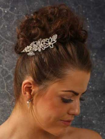 rhinestone and crystal tiara with pearl accents