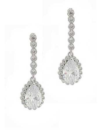 peardrop crystal earrings