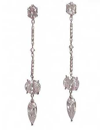 long crystal dangle earring